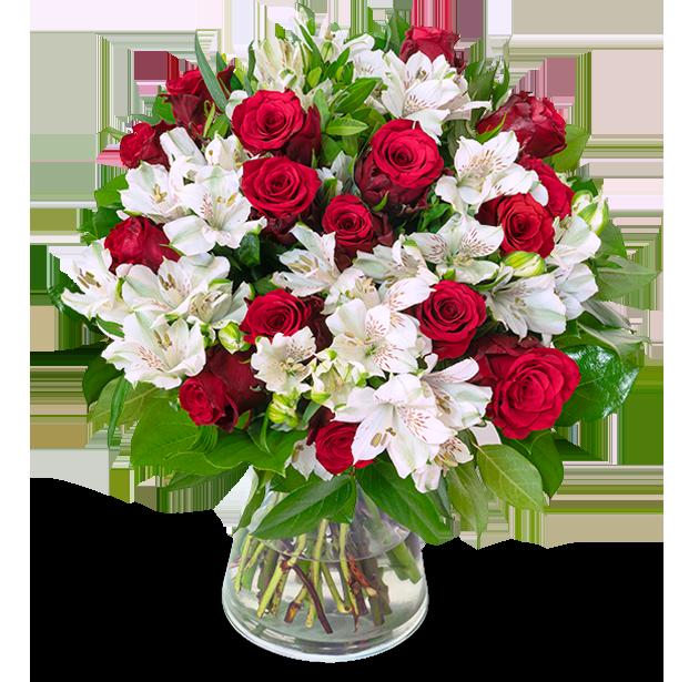 33 Stiele Liebesgruß mit über 120 Blüten